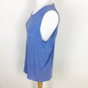 J. Crew Tops - J. Crew Garment Dyed Blue Muscle Tank sz.Small